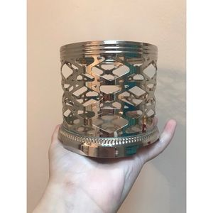 Bath & Body Works 3-Wick Silver Candle Holder